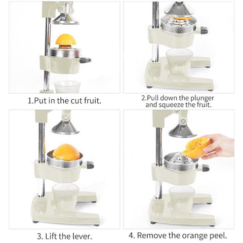 SOGA Commercial Manual Citrus Juicer - White