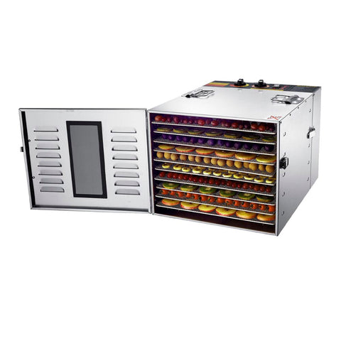 BioChef Arizona 10 Tray Commercial Food Dehydrator front right open