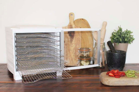 BioChef Arizona 10 Tray Food Dehydrator open on bench