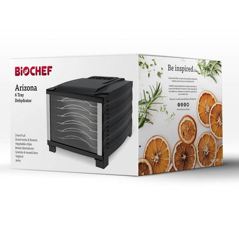 BioChef Arizona 6 Tray Food Dehydrator box left
