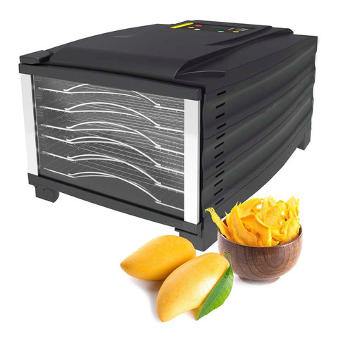 BioChef Arizona 6 Tray Food Dehydrator front left closed mango