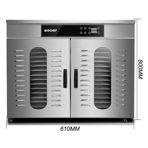 BioChef Commercial 32 Tray Digital Food Dehydrator dimensions