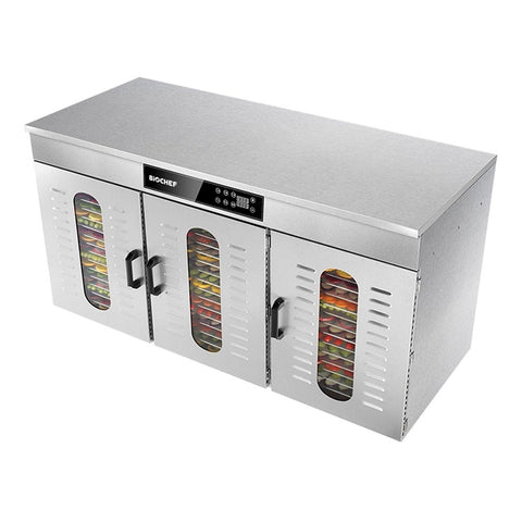 BioChef Commercial 48 Tray Digital Food Dehydrator front top side closed