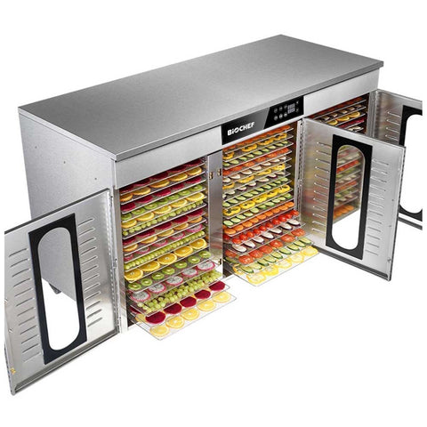 BioChef Commercial 48 Tray Digital Food Dehydrator fully loaded