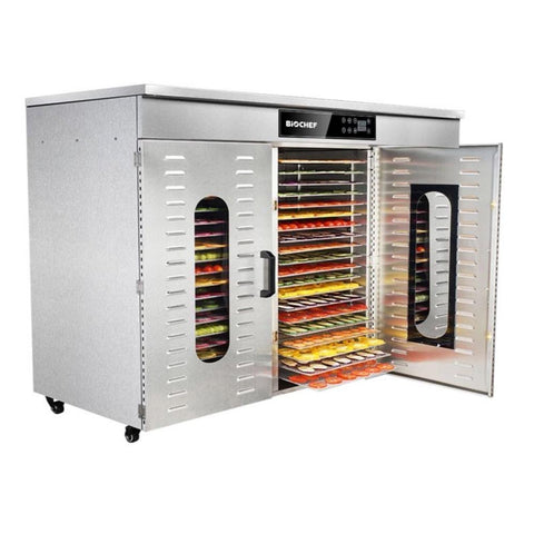 BioChef Commercial 60 Tray Digital Food Dehydrator front side top closed