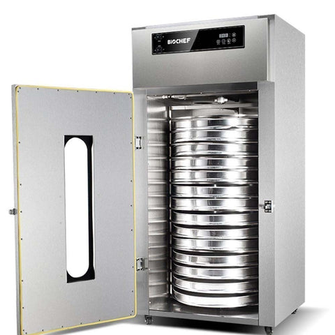 BioChef Commercial Rotating 15 Tray Food Dehydrator front open