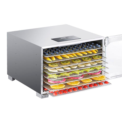 BioChef Kalahari 8 Tray Food Dehydrator front open with fruit