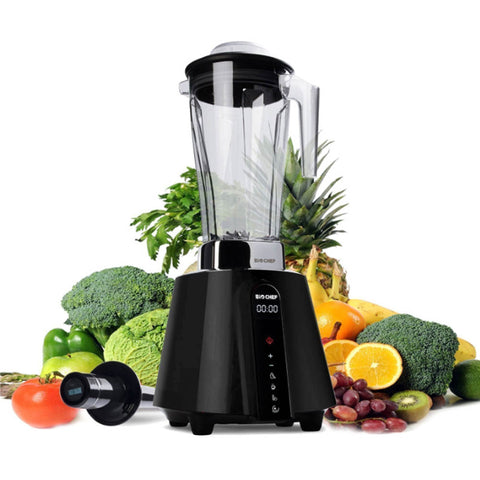 BioChef Living Food Vacuum Blender black fruit