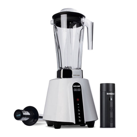 BioChef Living Food Vacuum Blender white front