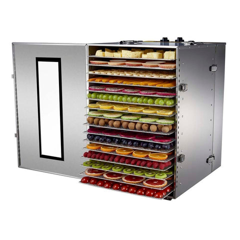 BioChef Premium 16 Tray Commercial Food Dehydrator front right open