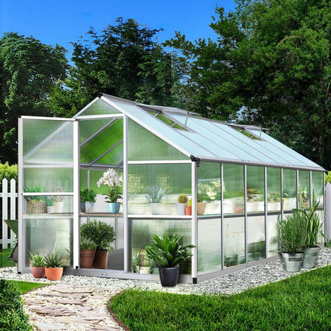 Greenfingers Greenhouse Aluminium Green House Garden Shed Greenhouses 4.22x2.5M home hothouse