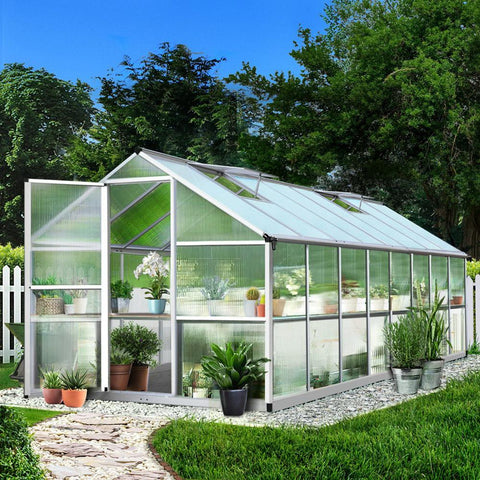 Greenfingers backyard Greenhouse Polycarbonate Aluminium 4.8 x 2.5 x 2.0m