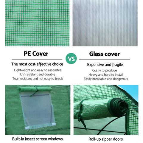 Greenfingers Garden Shed Greenhouse 3X2X2M Green House Replacement *Cover Only green house cover