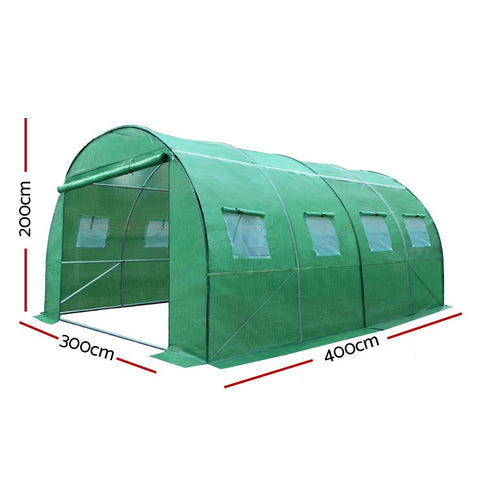 Greenfingers Greenhouse 4X3X2M Garden Shed Green House Polycarbonate Storage dimensions