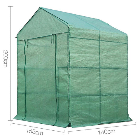 1.4 x 1.55 Metre Walk-in All Weather Greenhouse dimensions