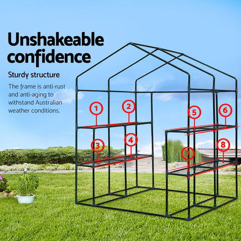 1.4 x 1.55 Metre Walk-in All Weather Greenhouse sturdy construction
