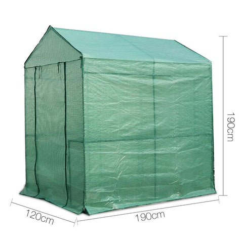 Greenfingers Greenhouse Garden Shed Green House 1.9X1.2M Storage Plant Lawn dimensions