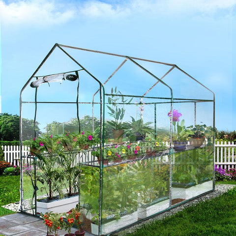 Greenfingers Greenhouse Clear PVC 1.9m x 1.2m x 1.9m home greenhouse