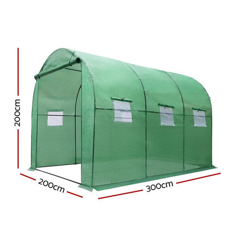 Greenfingers Tunnel Greenhouse 3 x 2 x 2m