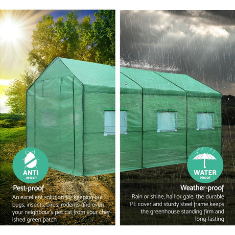 Greenfingers Greenhouse 3.5x2x2m rodent proof
