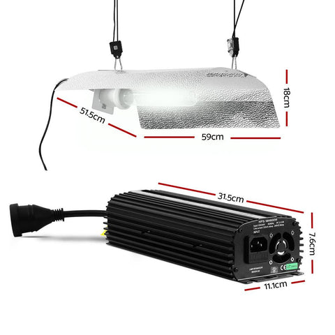 Greenfingers 400W HPS MH Grow Light Kit Digital Ballast Reflector