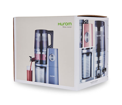 Hurom-H34-One-Stop-cold-press-juicer-blue-H34B-box