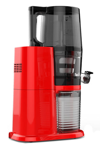 Hurom H34 'One Stop' Cold Press Juicer Vivid Red rear side