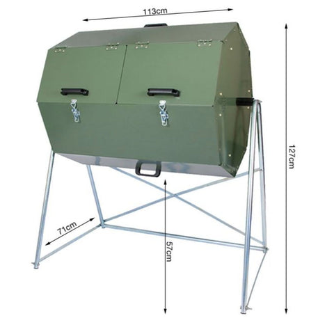 Joraform 'Big Pig' Rotational Composter - 270L dimensions