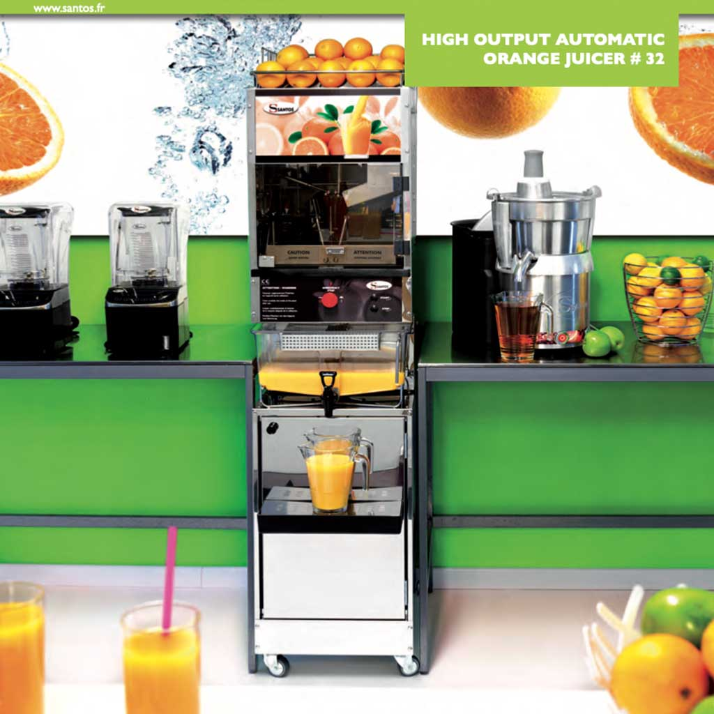 Santos #32 High Output Automatic Orange Juicer best juice bar juicer