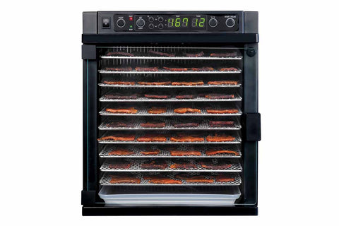 Sedona Express Dehydrator 11 Stainless Steel Trays TBSE11TSS front closed