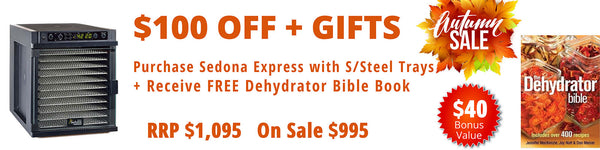sedona-express-dehydrator-with-11-stainless-steel-trays
