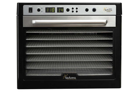 Sedona Supreme Commercial Dehydrator with 9 Stainless Steel Trays TBSSCD front