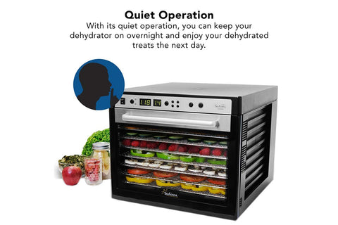 Sedona Supreme Commercial Dehydrator with 9 Stainless Steel Trays TBSSCD smart operation