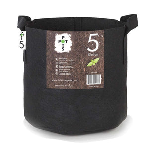 Pot Pots 5 Gal Fabric Pot W/ Handle