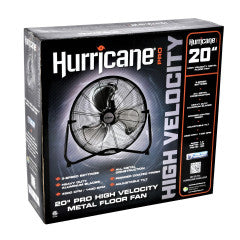 Hurricane - 20'' High Velocity Floor Fan