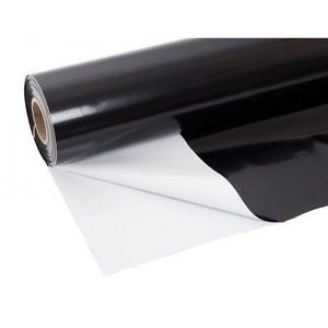 Black & White Reflective Plastic Material 100 Ft