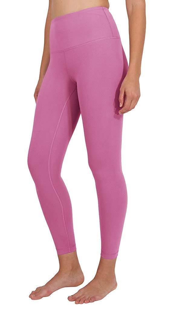 Ankle Length High Waist Power Flex Leggings - 7/8 Tummy Control Yoga Pants