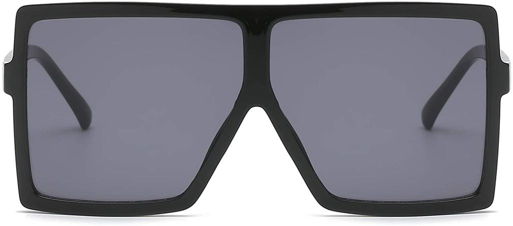 Square Oversized Sunglasses for Women Men Flat Top Fashion Shades