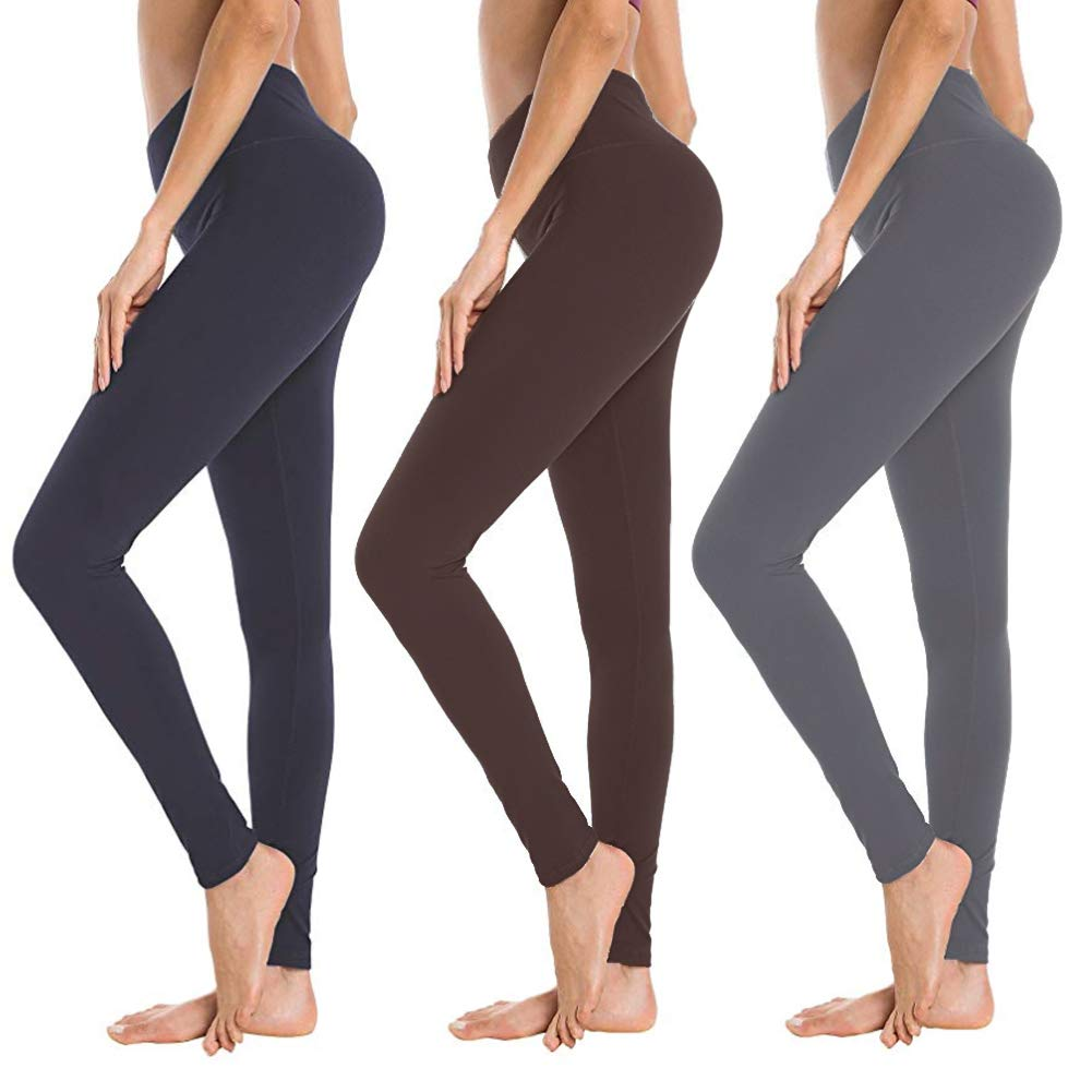 Soft Athletic Tummy Control Pants for Running Cycling Yoga Workout - Reg & Plus Size