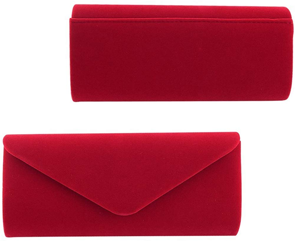 Women Evening Bag Clutch Purse,iSbaby Handbag With Detachable Chain for Wedding Cocktail Party Velvet