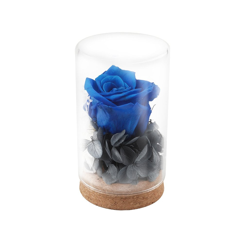 Handmade Preserved Flower Rose,Upscale Immortal Flowers,Eernal Life Flowers for Love Ones,Gift for Valentine's Day,Christmas Eve,Anniversary (Blue Heart-shapedaped)
