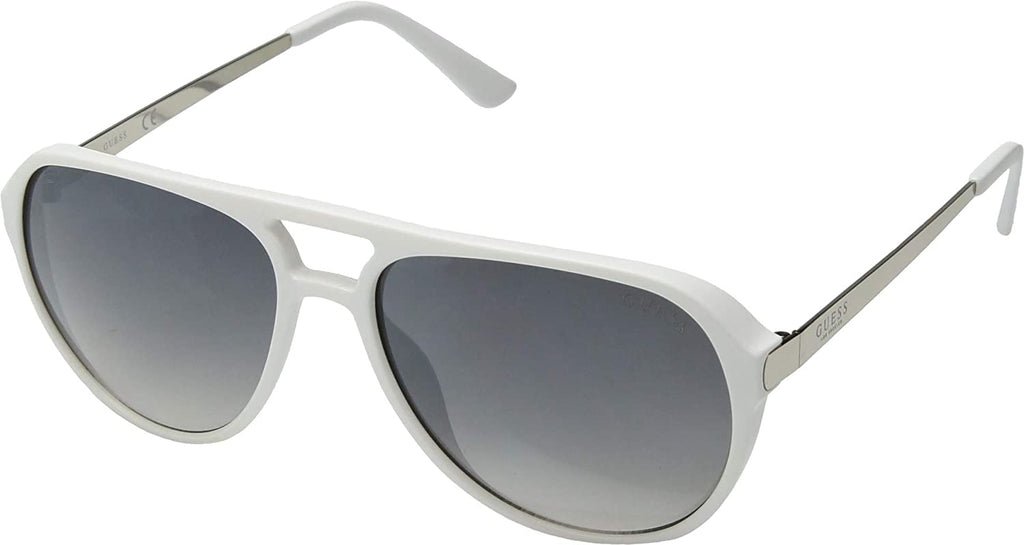 Unisex Sunglasses with 100% UV Protection (White/Blu Mirror)