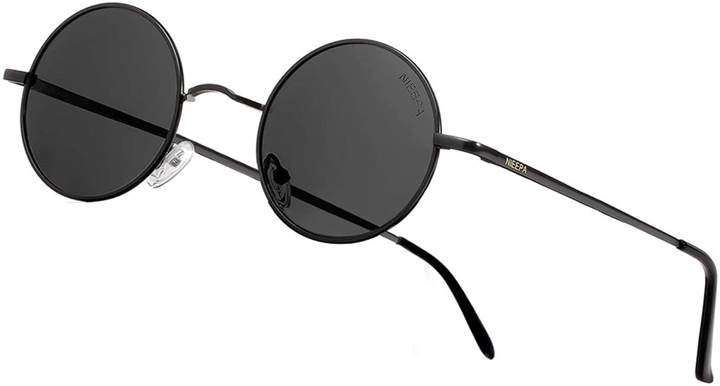 John Lennon Vintage Round Polarized Hippie Sunglasses Small Circle Sun Glasses
