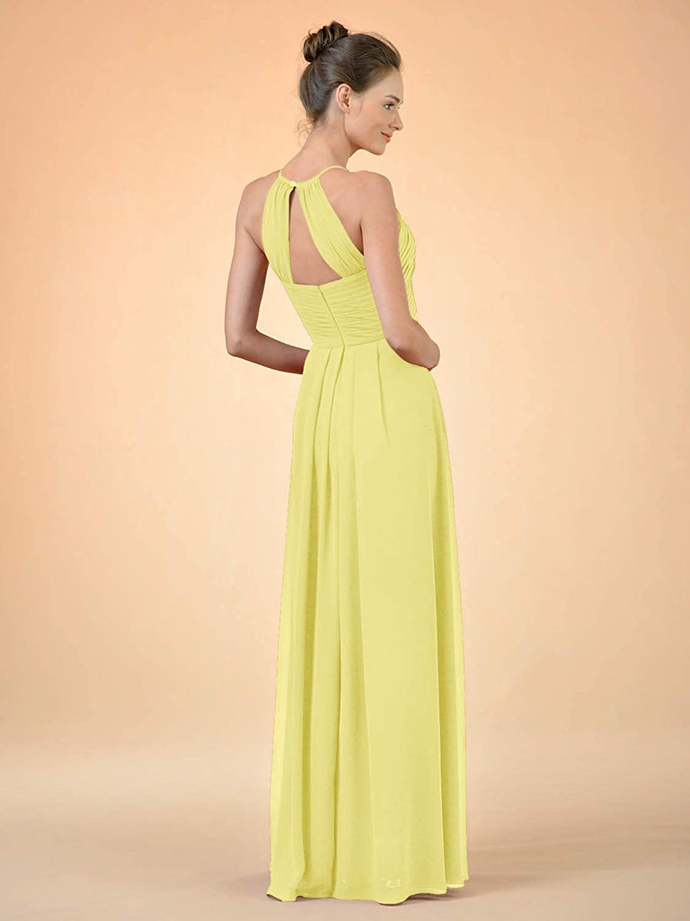 Maxi Evening Gown A Line Plus Party Dress Long Chiffon Bridesmaid Dress