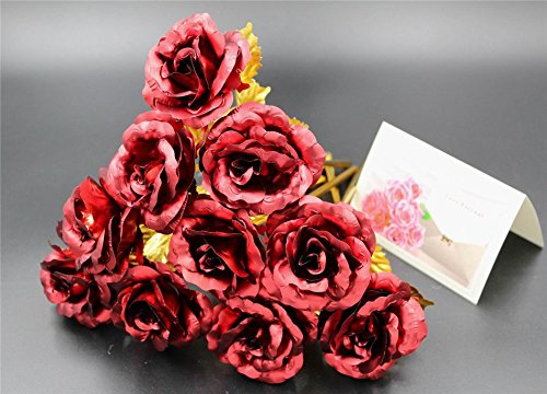 Monther Day Gift 24K Gold Foil Artificial Rose Flower Birthday Gift