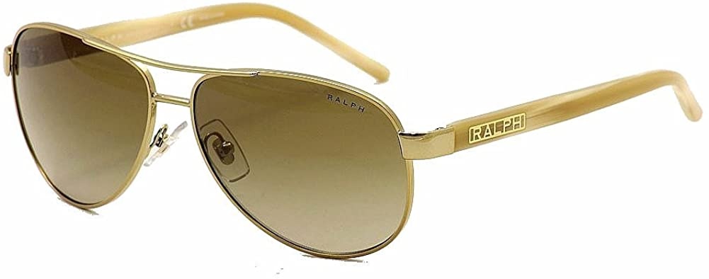 Gold and Cream with Brown Gradient Lenses Women's Sunglasses