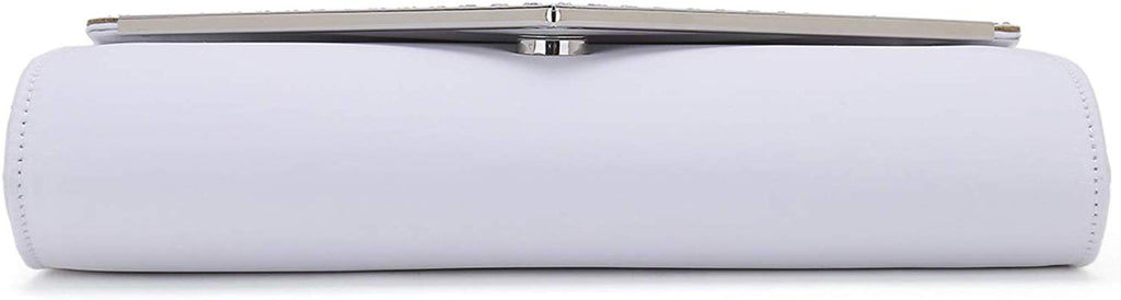 Charming Tailor Elegant Satin Clutch Shimmering Rhinestones Laser-cut Flap Prom Purse