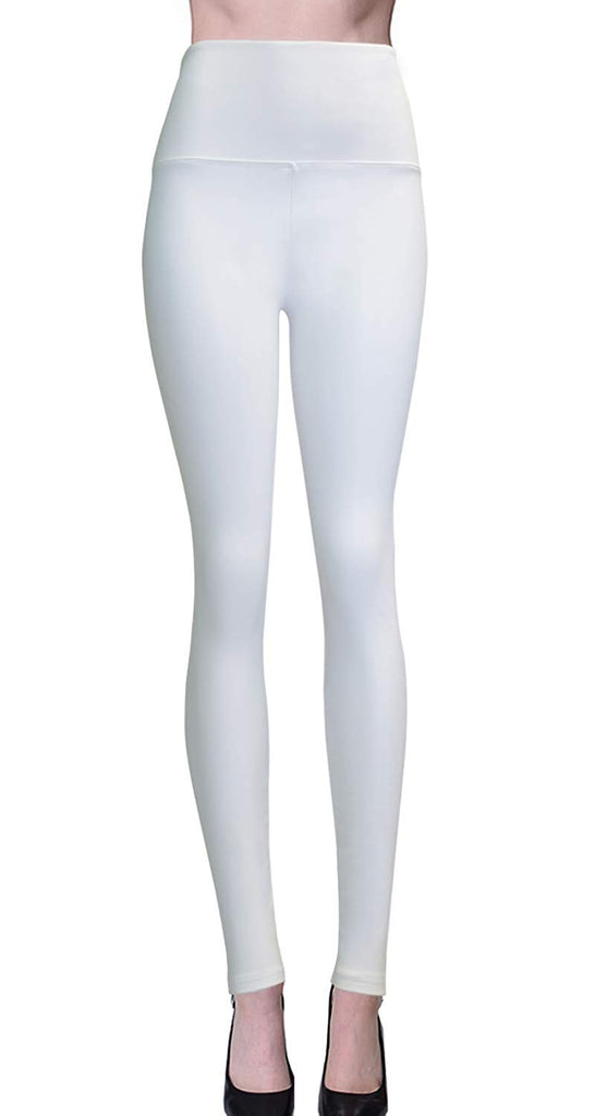 women's Collection Signature Leggings Solid Brushed Yoga Waistband Full Length