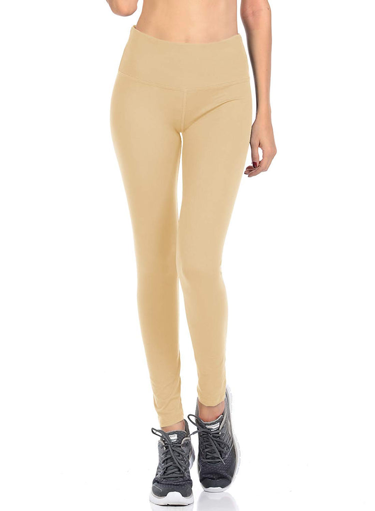 Collection Signature Leggings Solid Brushed Yoga Waistband Full Length