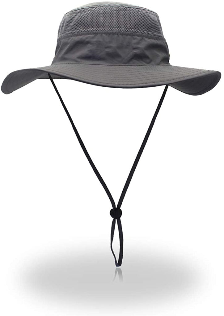 Windproof Fishing Hats UPF50+ UV Protection Sun Cap Outdoor Bucket Mesh Hat 56-61cm